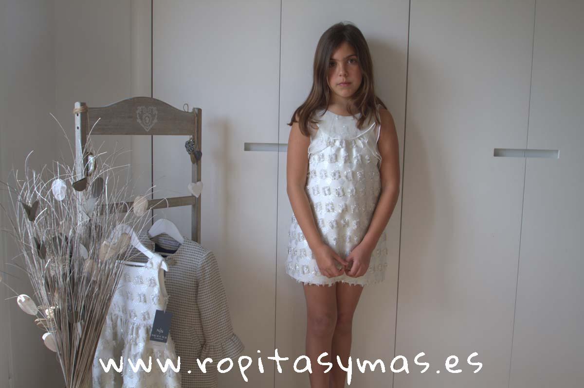 Vestido NIZA CUADROS LÚREX de NUECESKIDS