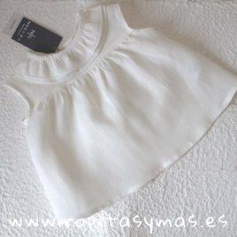 Camisa DOBLE CUELLO LINO CRUDO de NUECESKIDS, verano 2018