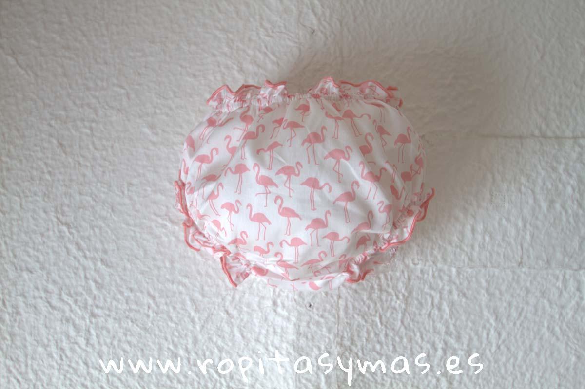 Cubre rosa FLAMENCOS de NUECES