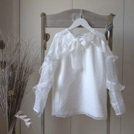 Camisa PARÍS PLUMETI blanco roto de NUECESKIDS, verano 2018