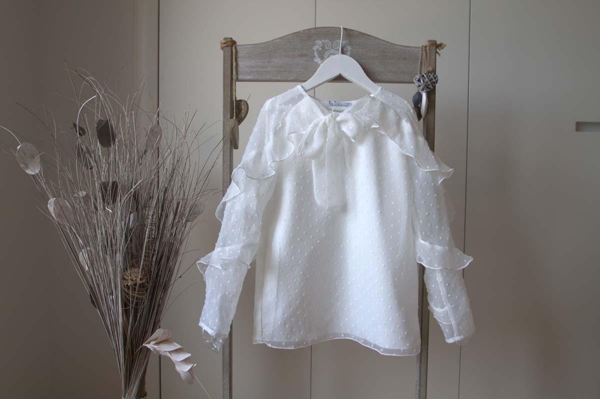 Camisa PARÍS PLUMETI blanco roto de NUECESKIDS