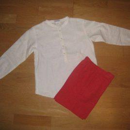 Conjunto camisa y bermuda coral de Ancar, verano 2014