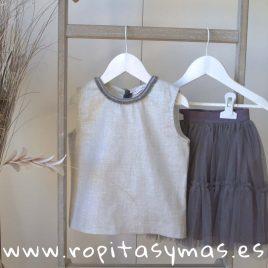 Conjunto falda gris TULLER de EVE CHILDREN, verano 2018