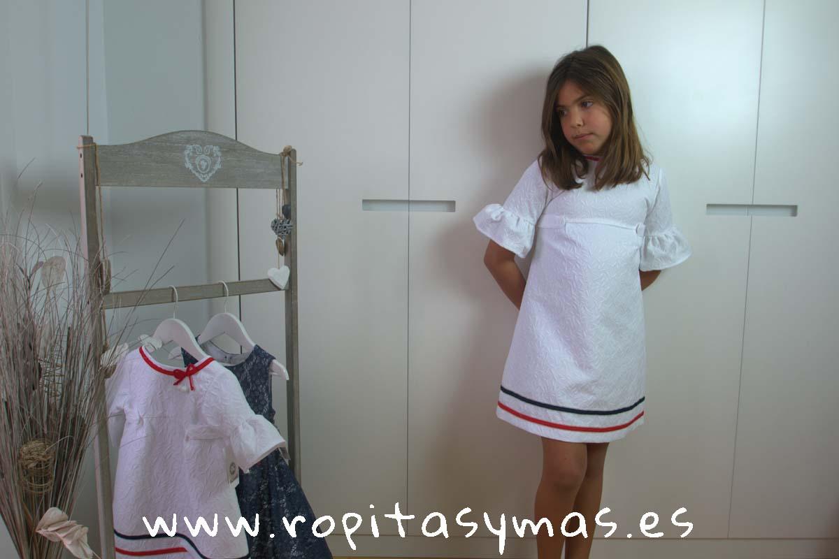 Vestido blanco marinero NAUTICAL de KAULI