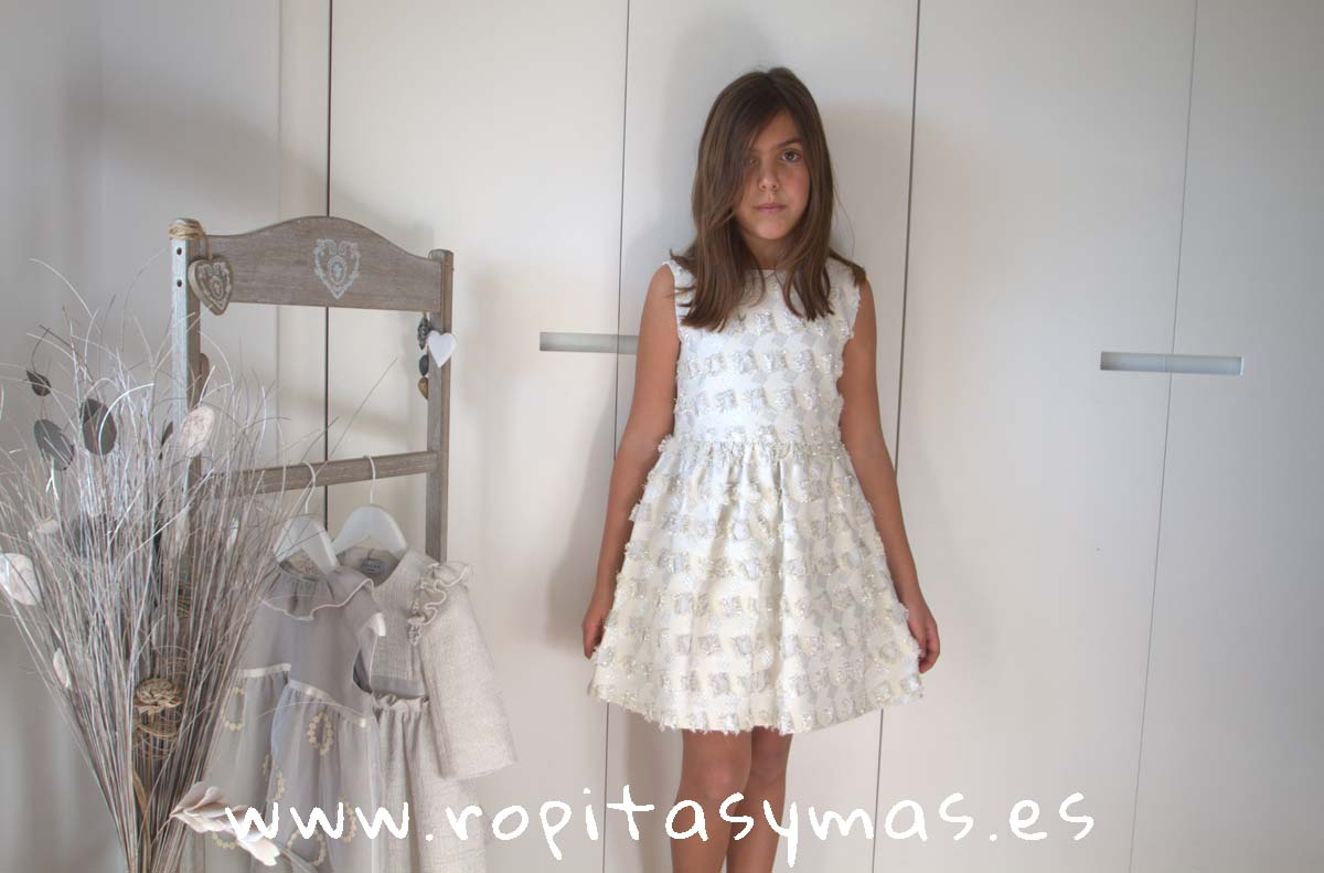 Vestido PRAGA CUADROS LÚREX de NUECESKIDS