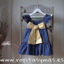 Vestido azul GRECIA de NUECESKIDS, verano 2018