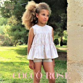 Conjunto short ceremonia GOLD de COCCO ROSE, verano 2018