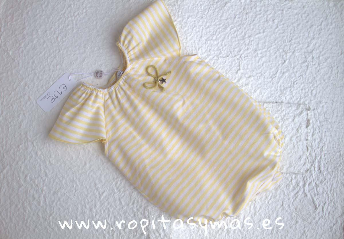 Pelele rayas amarillas AMARELO de Eve Children