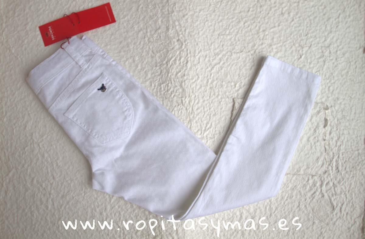 Pantalón blanco rombos largo de LION OF PORCHES