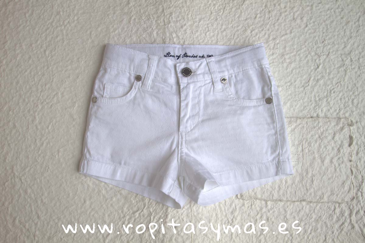 Short blanco rombos de LION OF PORCHES