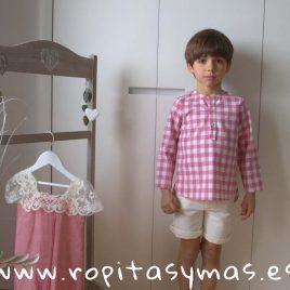 Camisa CUADROS ROSA de MIA Y LIA, verano 2018