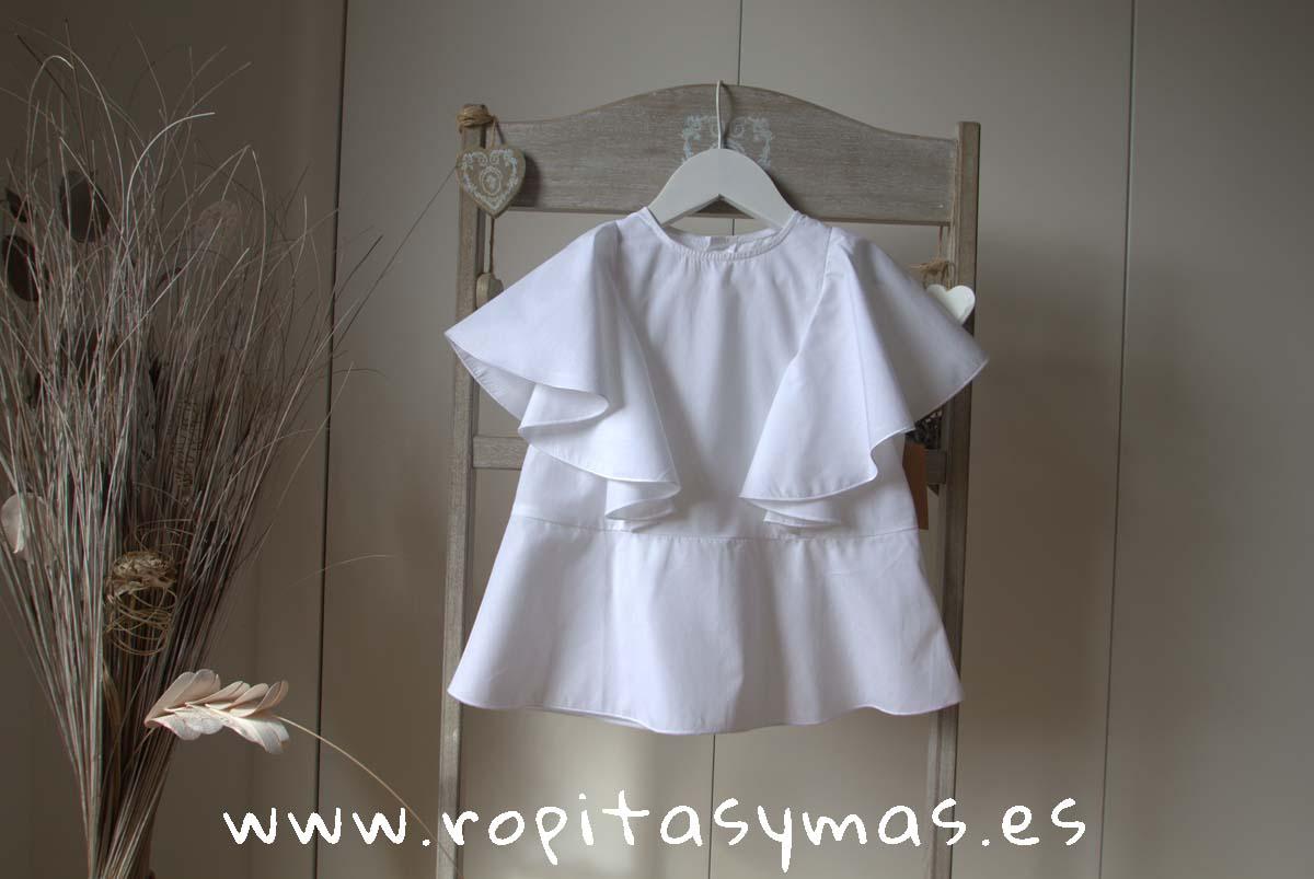 Blusa blanca MANGAS MARIPOSA de MIA Y LIA