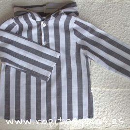 Camisa rayas grises y blancas de MIA Y LIA, verano 2018
