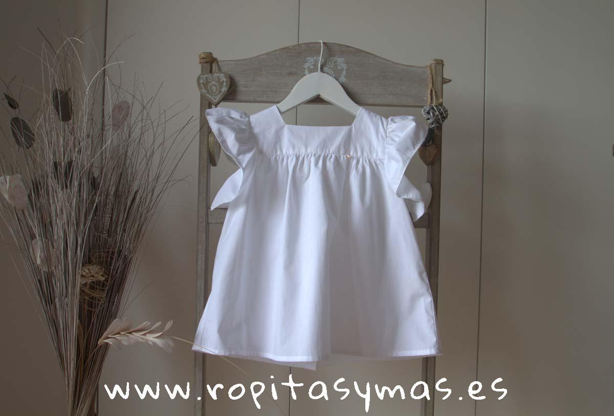 Blusa blanca CORAZÓN de MIA Y LIA