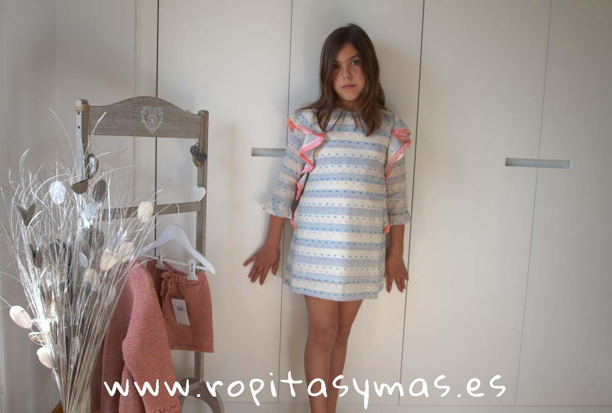 Vestido plumeti multicolor de ANCAR