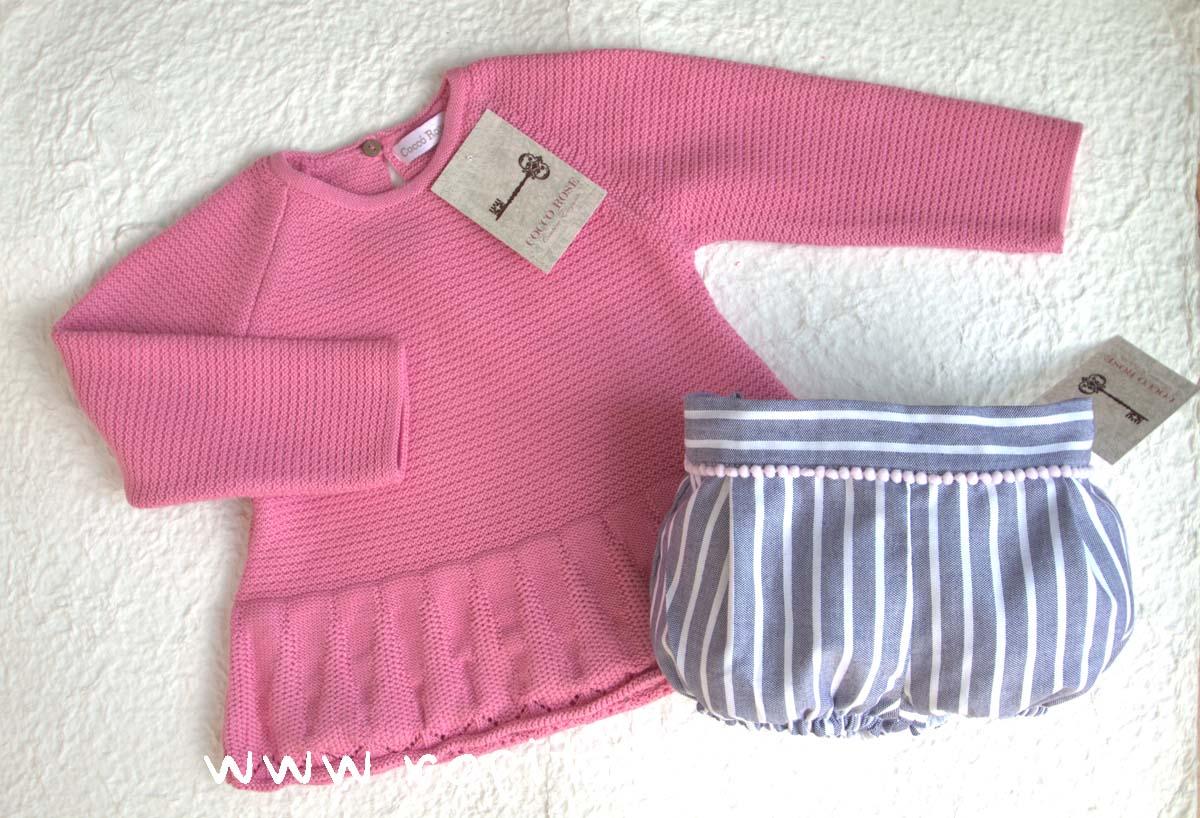 Conjunto rosa y gris VIOLETA de COCCO ROSE