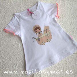 Camiseta coral EVA CASTRO niña, verano 2018
