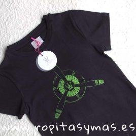 Camiseta marino EVA CASTRO niño, verano 2018