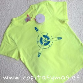 Camiseta amarilla EVA CASTRO niño, verano 2018