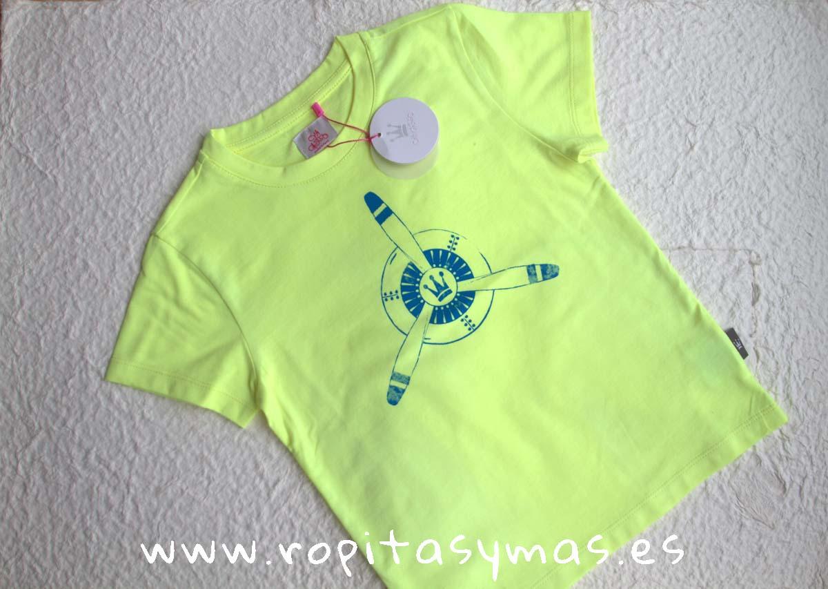 Camiseta amarilla EVA CASTRO niño