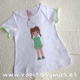 Camiseta amarilla EVA CASTRO niña, verano 2018