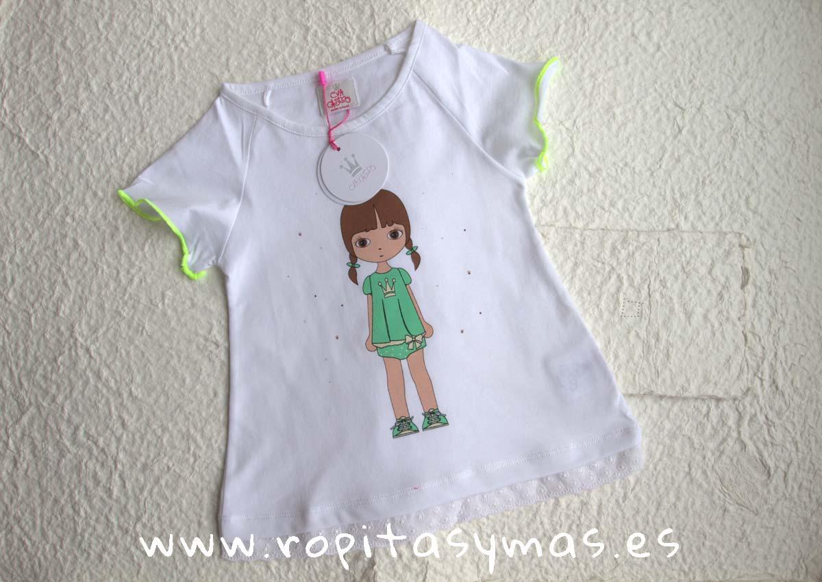 5b29a1106 Camiseta amarilla EVA CASTRO niña