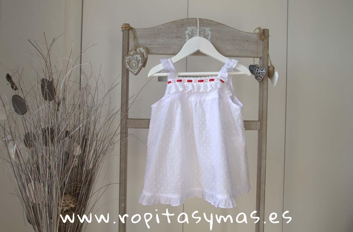 Vestido plumeti blanco baño de KAULI