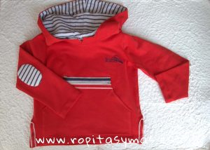 Sudadera roja NAUTICAL YOUNG&COOL niño de KAULI