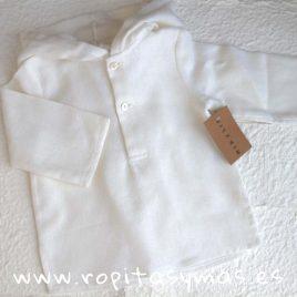 Camisa capucha entramada blanca de MIA Y LIA, verano 2018