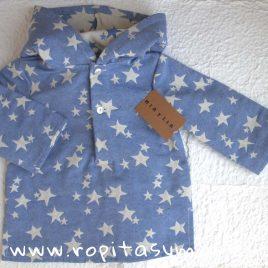 Camisa capucha ESTRELLAS de MIA Y LIA, verano 2018