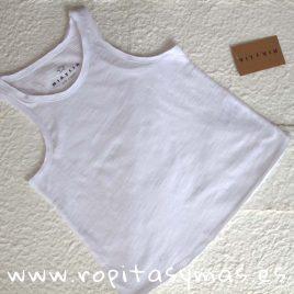 Camiseta deportiva básica BLANCA de MIA Y LIA, verano 2020