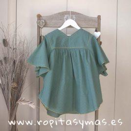 Vestido verde CROACIA de NUECESKIDS, verano 2018