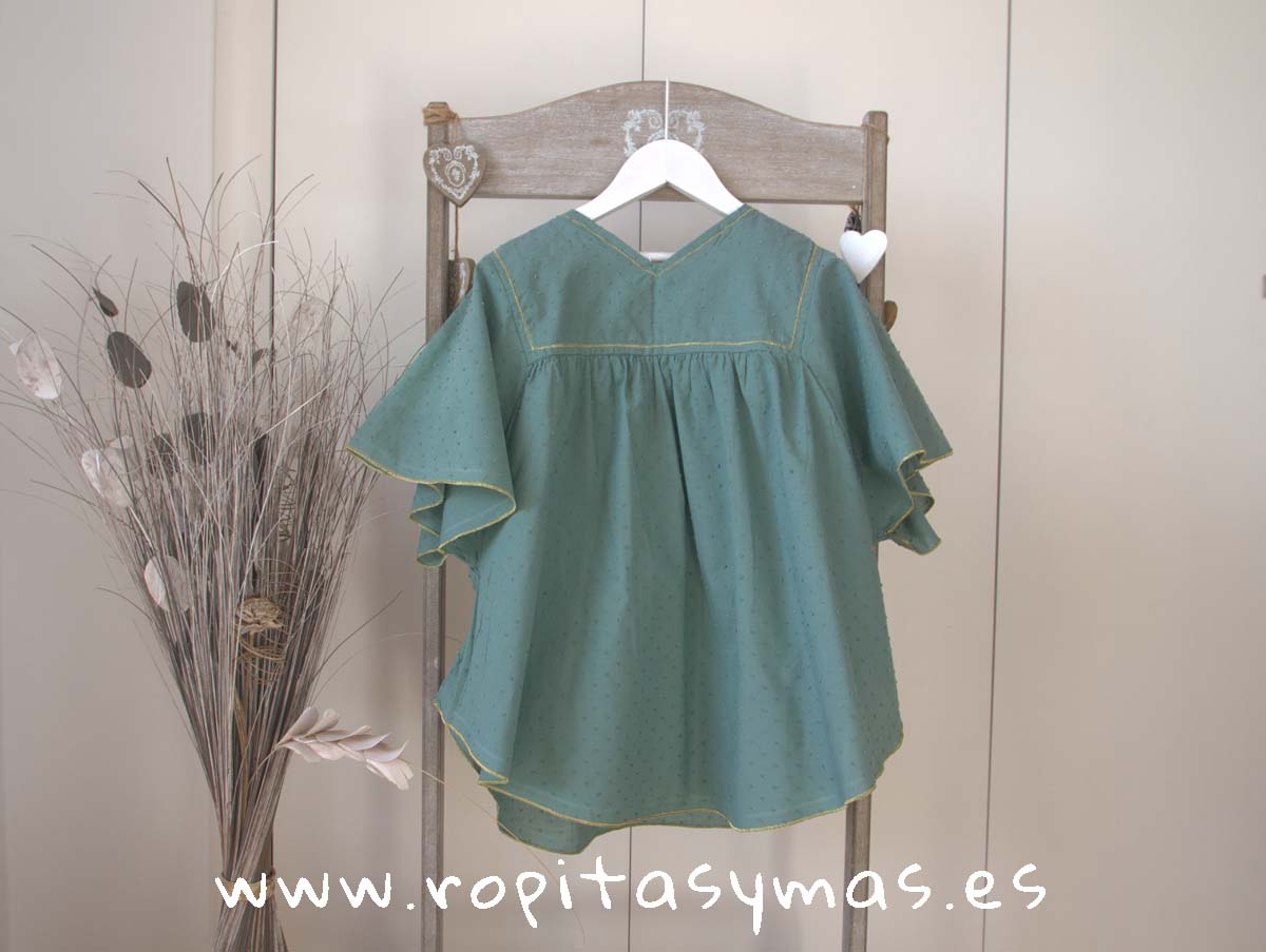 Vestido verde CROACIA de NUECESKIDS