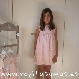 Vestido MÓNACO ROSA LINO de NUECESKIDS, verano 2018