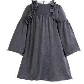 Vestido gris azulado volantes TEEN de EVE CHILDREN, invierno 2018
