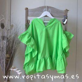 Camisola plumeti verde NAPOLES de LE PETIT MARIETTE, verano 2018