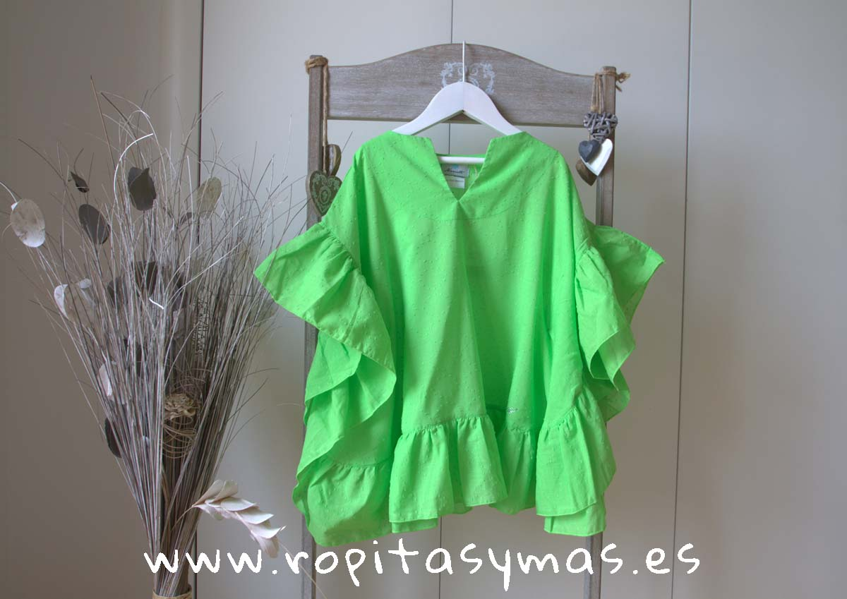 Camisola plumeti verde NAPOLES de LE PETIT MARIETTE