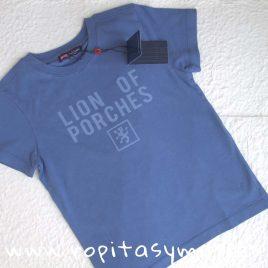 Camiseta azulada logo niño LION OF PORCHES, verano 2018