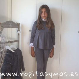 Casaca antelina gris TEEN de EVE CHILDREN, invierno 2018