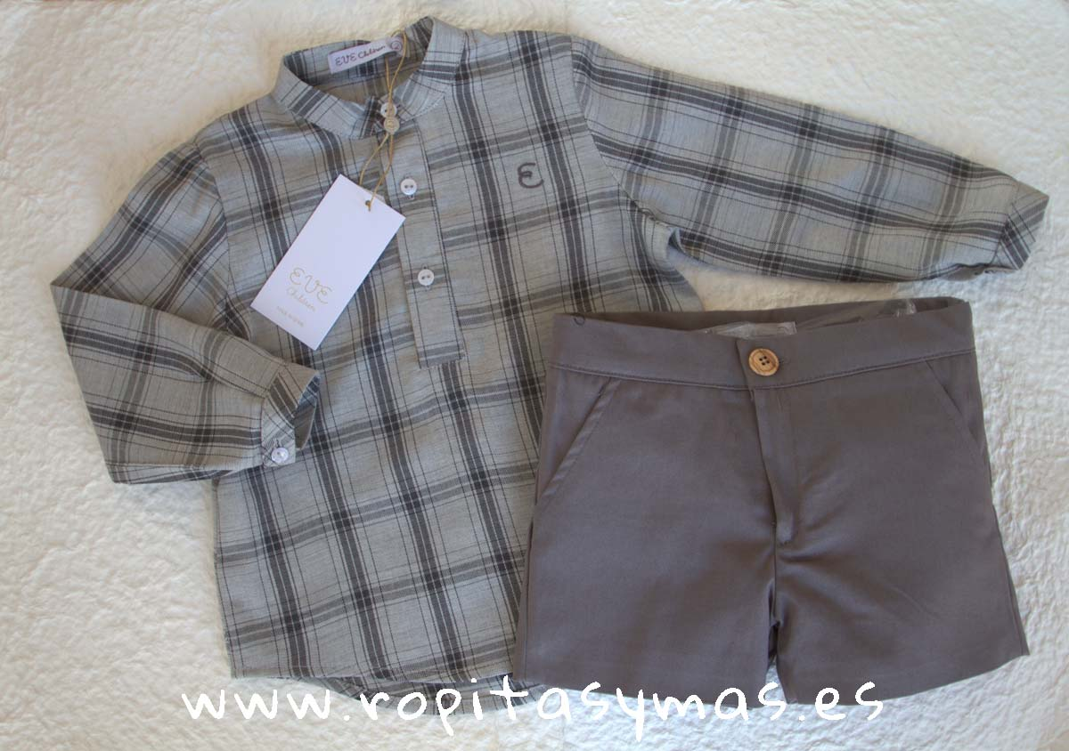 Conjunto niño cuadros grises MOUNTAIN de EVE CHILDREN