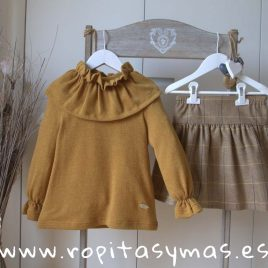 Conjunto falda mostaza SPIKE de EVE CHILDREN, invierno 2018