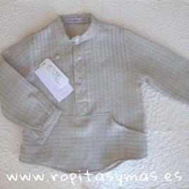 Camisa rayas piedra QUILL de EVE CHILDREN, invierno 2018