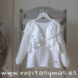 Camisa blanca gaseada TEEN de EVE CHILDREN, invierno 2018
