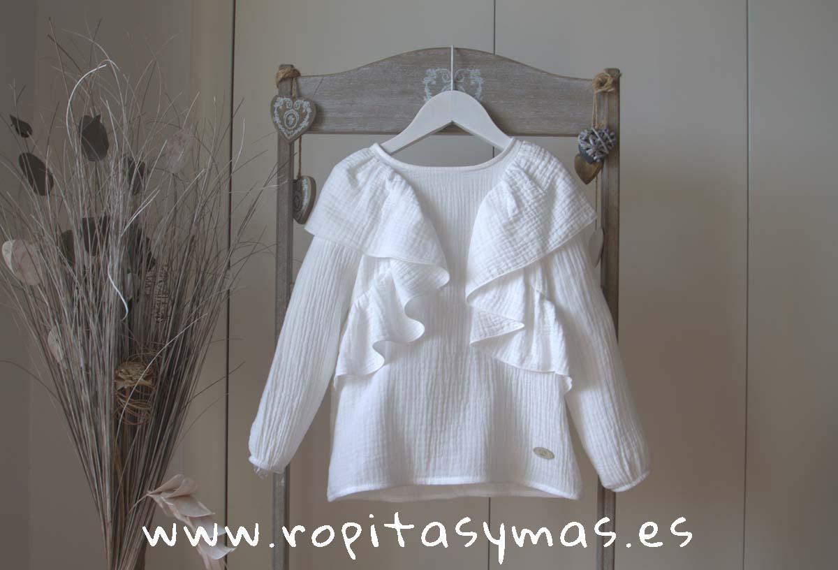 Camisa blanca gaseada TEEN de EVE CHILDREN