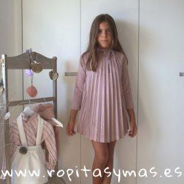 Vestido tablas antelina rosa TEEN de EVE CHILDREN, invierno 2018