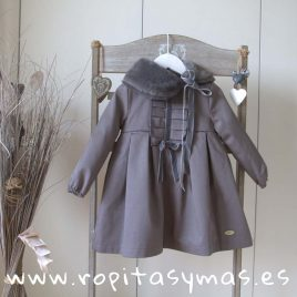 Vestido pechera tableada gris MOUNTAIN  EVE CHILDREN, invierno 2018