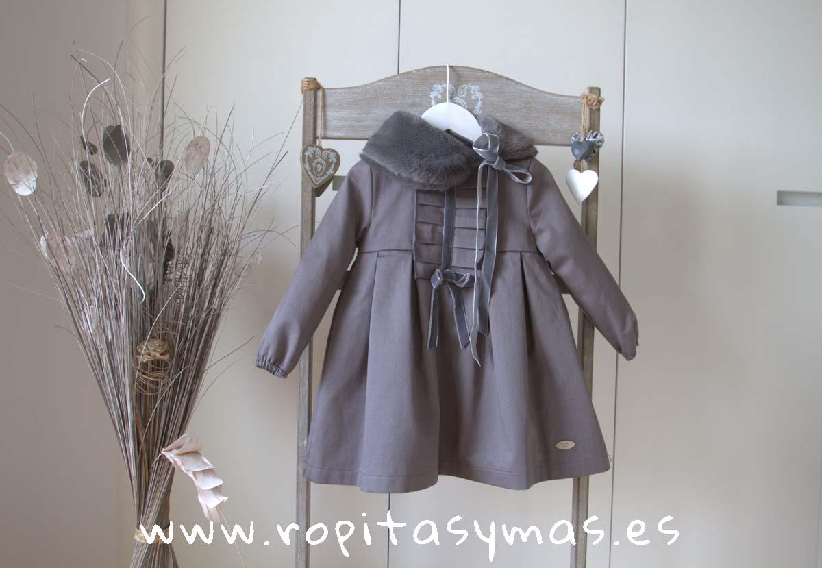 Vestido pechera tableada gris MOUNTAIN EVE CHILDREN