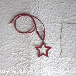 Collar estrella granate DOTS de EVE CHILDREN, invierno 2018