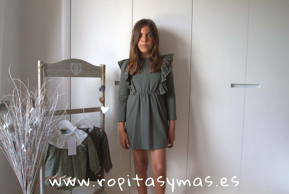 Vestido verde volantes FOREST de EVE CHILDREN