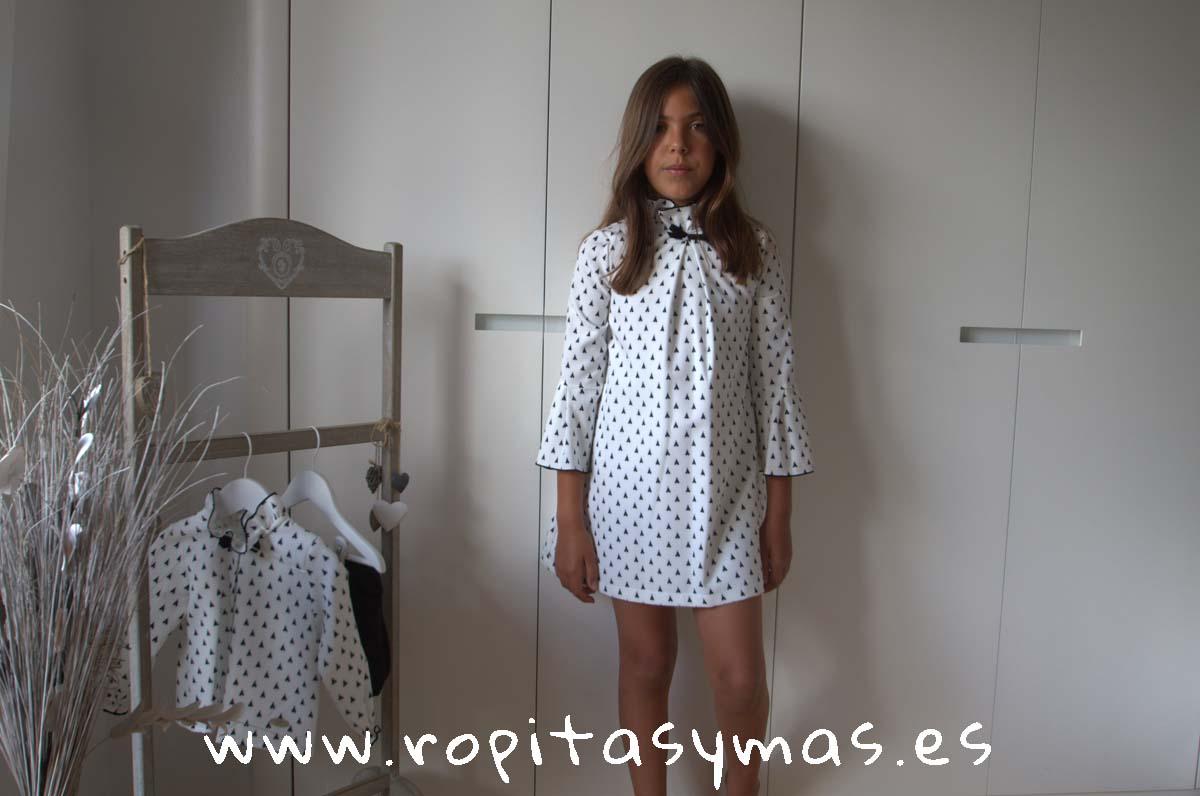 Vestido blanco y negro TEPEE de EVE CHILDREN
